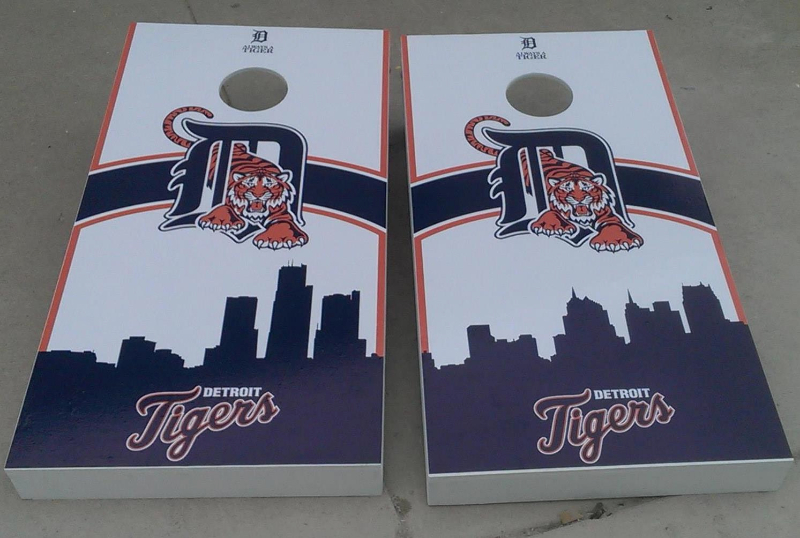 Detroit Tigers Cornhole Set