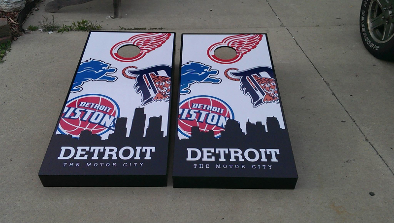 Detroit Sports Cornhole Boards