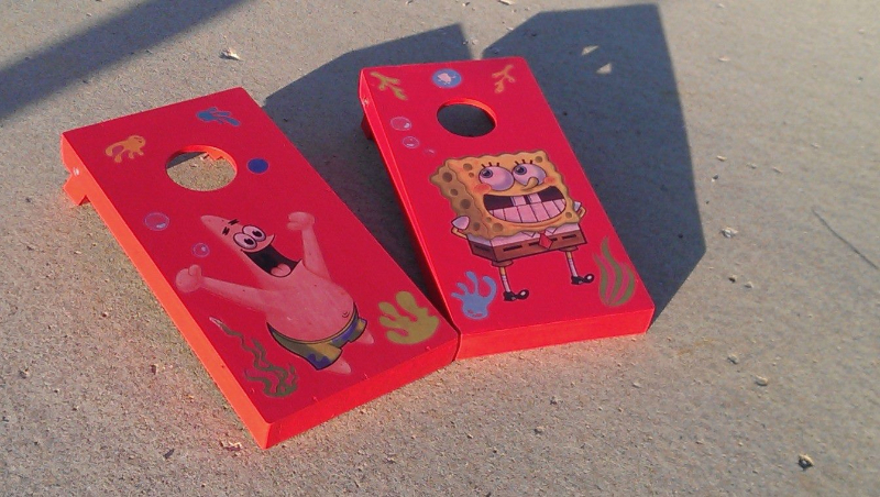 Kids Spongebob Cornhole set