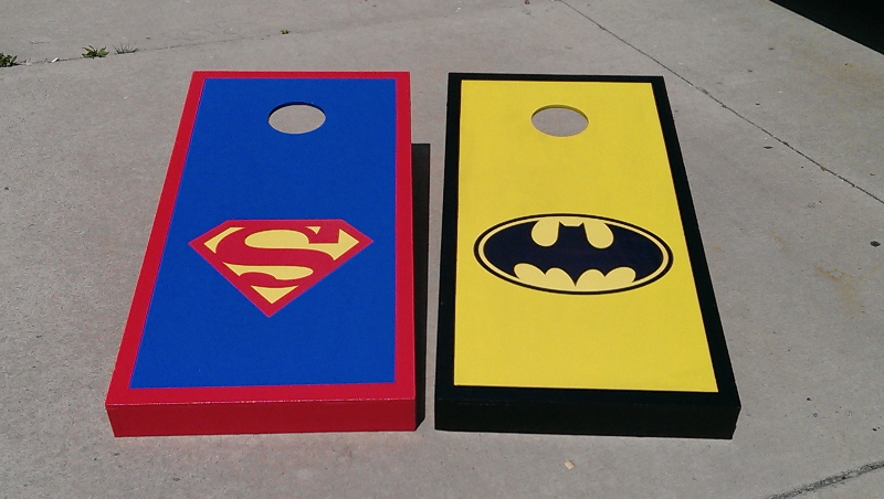 Superman/Batman Cornhole Boards
