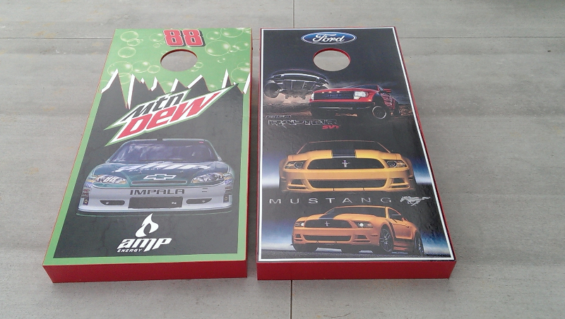 Mt Dew/Ford Cornhole Set