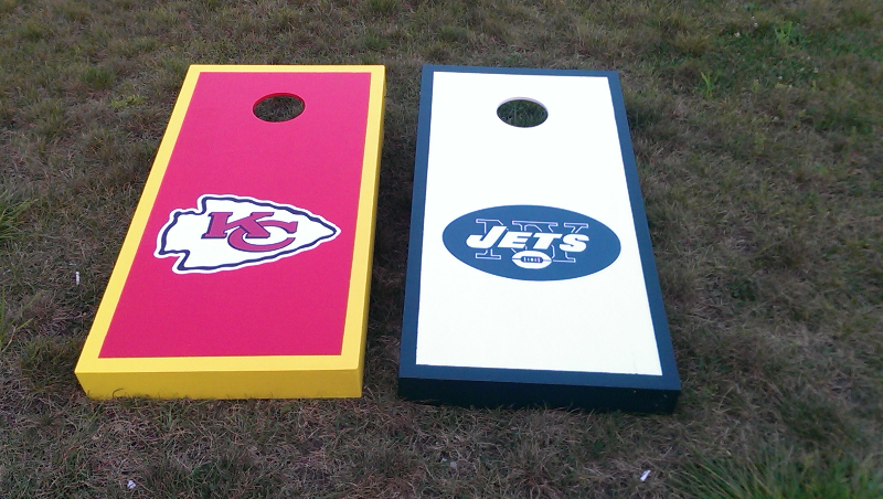 Chiefs / Jets Cornhole Set