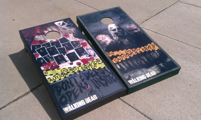 The Walking Dead Cornhole Boards