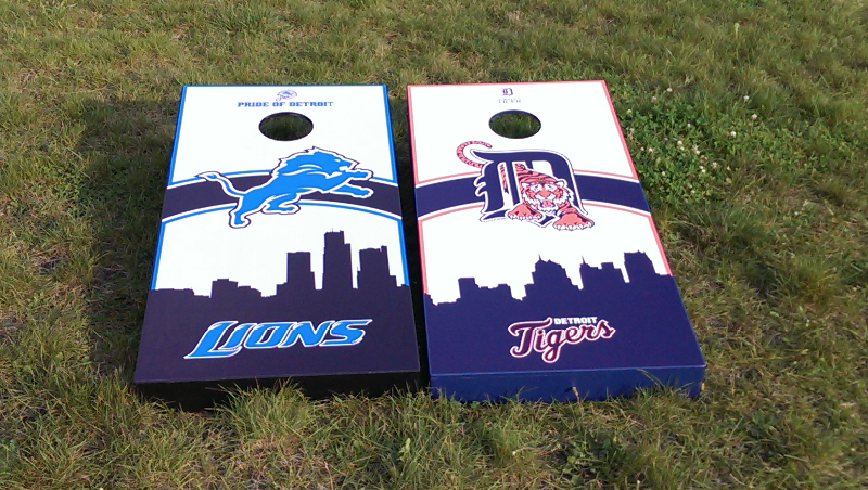 Lions / Tigers Cornhole Set
