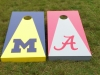 Michigan / Alabama Cornhole Set